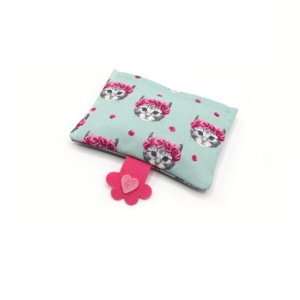 greenPAWS - Pink Kitty hervulbaar trappelkussen valeriaan en kattenkruid vooraanzicht