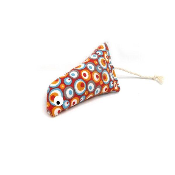 greenPAWS - Trappelkussen Orange Swirl met bio kattenkruid en valeriaan