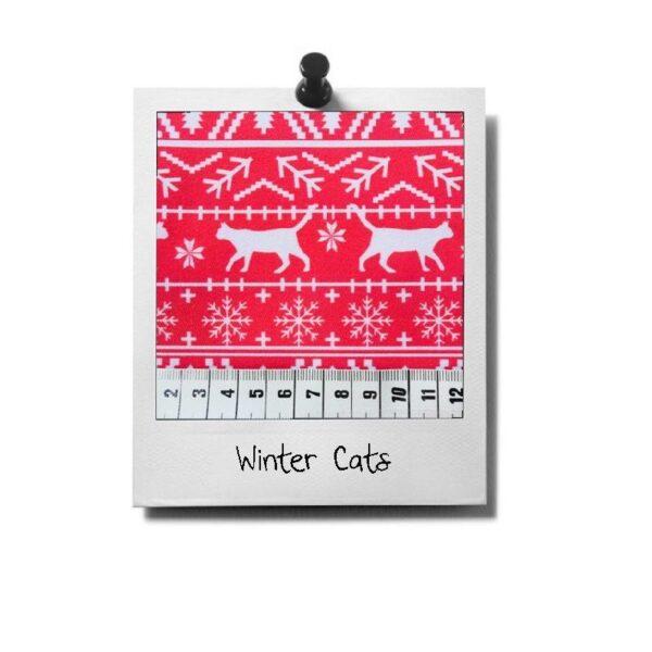 greenPAWS - Wintercats patroon stof