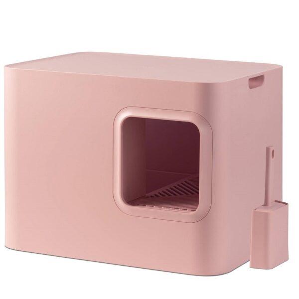 Dome kattenbak roze