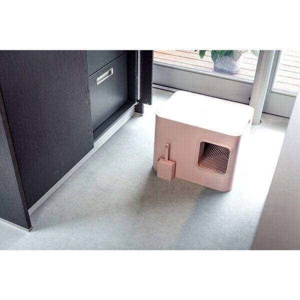 Dome kattenbak roze interieur