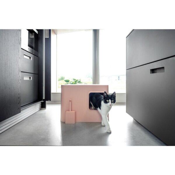 Dome kattenbak roze kat