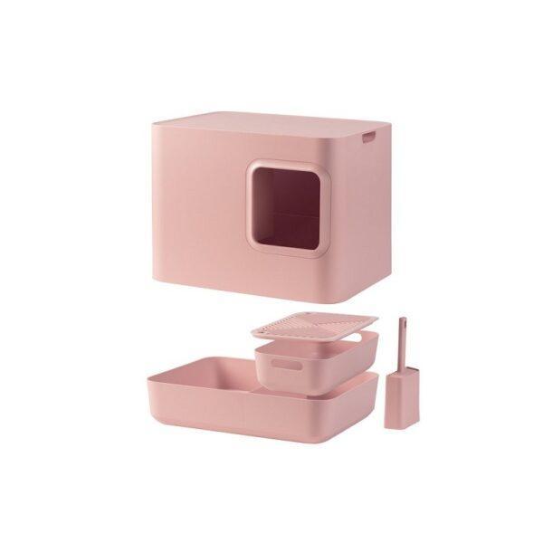 Dome kattenbak roze onderdelen