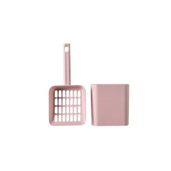 Dome kattenbak roze schepje