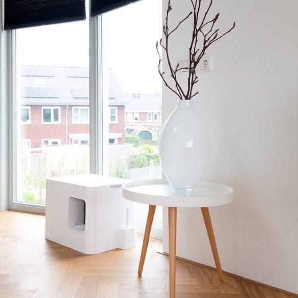 Dome kattenbak wit interieur