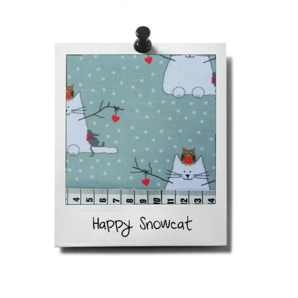 greenPAWS - Snowcat patroon stof