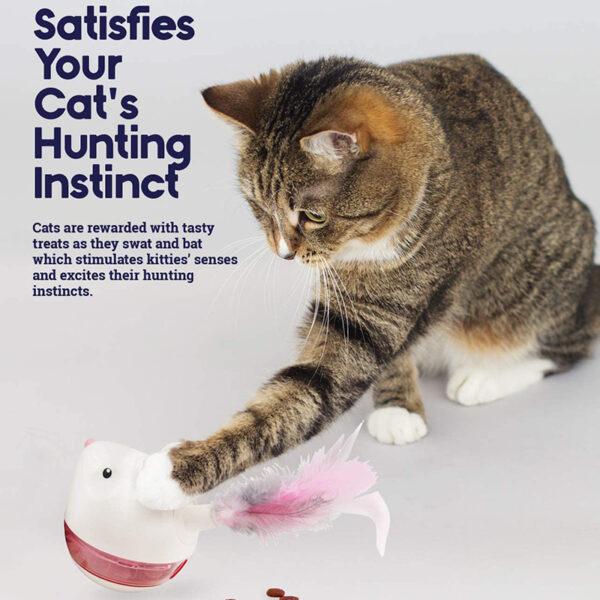 Petstages - Nina Ottosson - Hunt N Swat voerpuzzel kat speelt